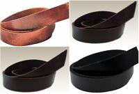"Aniline Dyed Water Buffalo Leather Belt Strips, 9oz Straps, 54"" - 60"" Belt Blank"