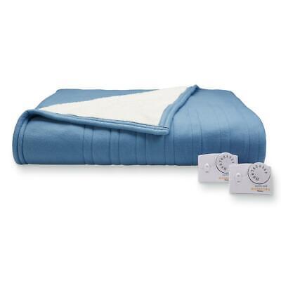 Biddeford Heated Electric Plush Throw Blanket model # OTJ BLUE