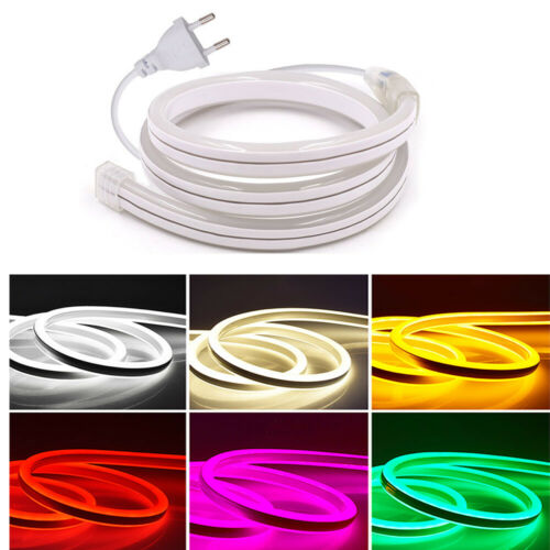 Flexible Strip Rope Double Side Light 220V SMD2835 120LED//m Neon Tube Waterproof