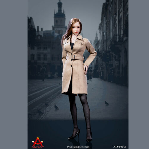 """ACPLAY ATX049-A 1//6 Long Coat Dress Clothing Model Set F 12/"""" Female Figure Toys"""