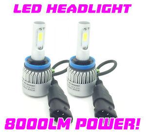 H11-COB-LED-Bombillas-De-Faros-Kit-8000-lumenes-CANBUS-100W-para-Nissan-Micra-17-On