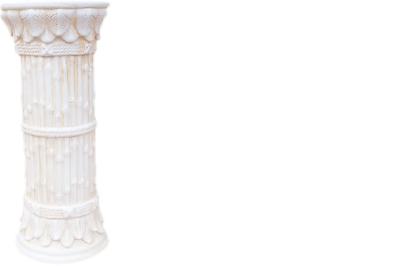 Greco Stile Antico Pilastri Pilastro Colonna Sui Portafiori Decorazione Decorazione 1052-mostra Il Titolo Originale Elaborato Finemente