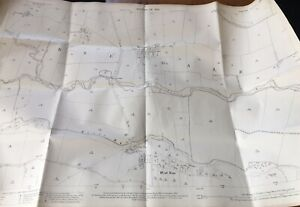 19212Ordnance-Survey-Map-Plan-Ryedale-West-Ness-Muscoates-Grange-River-rye-Old