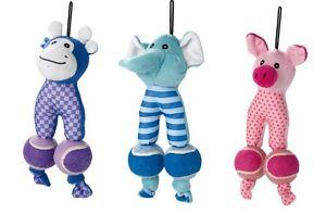 Hunter-Hundespielzeug-Puppy-Tennis-Tots-Schwein-Elefant-Giraffe-28-cm-REDUZIERT