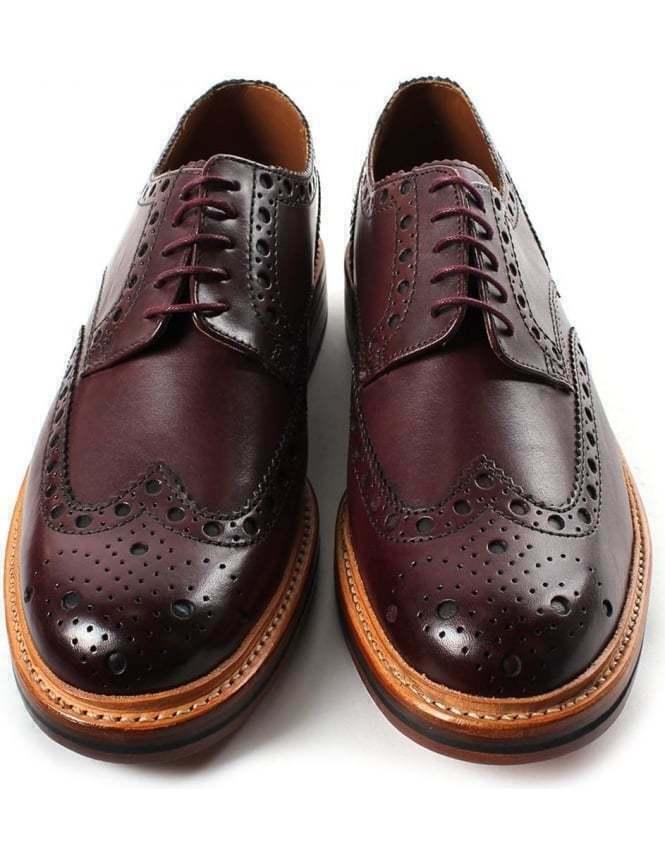 Zapatos Para Hombre Hecho a Mano Marrón Cuero Oxford Brogue punta del ala Derby Formal Vestido De botas