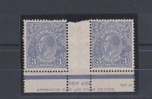 1928-Australia-KGV-SG-100-Imprint-Pair-Mint-Lightly-Hinged