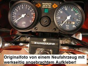 Zündapp Aufkleber Cockpit Fahren m. Licht 100% Original