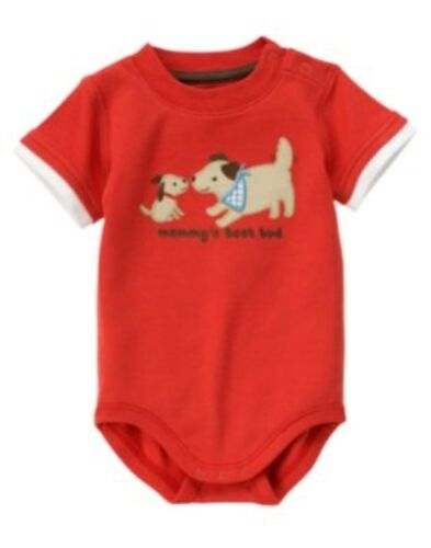 GYMBOREE I DIG DOGS RED DOGS Mommy/'s Best Bud BODYSUIT 0 3 6 12 18 24 NWT