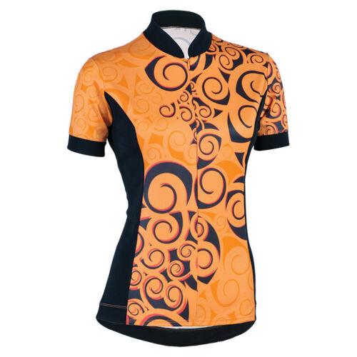 Women/'s S-Cut Koru  Cycling Jersey in Mango by SheBeest # 3211
