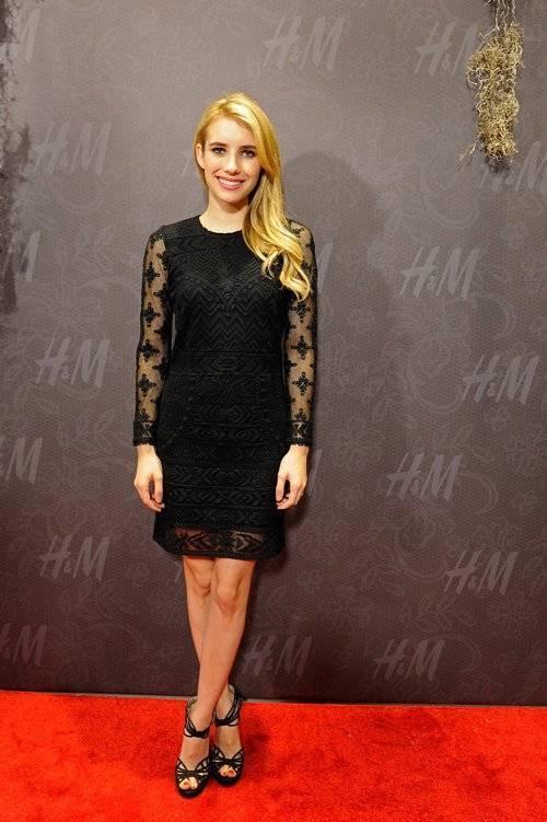 Isabel Marant  pour para H&M Negro De Encaje De Algodón Manga 3 4 Vestido 6 Us   36 euros  salida