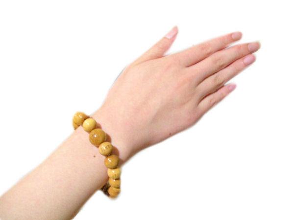 Buddhist Hannya Shingyo (The Heart Sutra) Wood bracelet