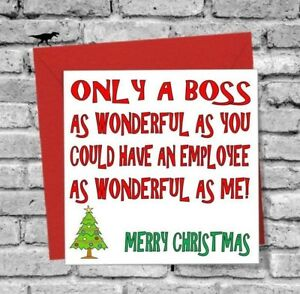 Merry Christmas Boss.Details About Wonderful Boss Merry Christmas Greetings Card Love Funny Rude Humour Comedy Work