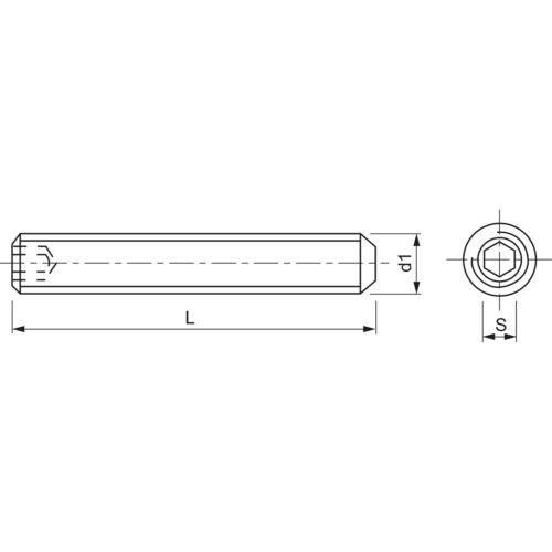 DIN 913 ISO4026 M 3x 10 Edelstahl A2 Gewindestift mit Kegelkuppe Innensechskt