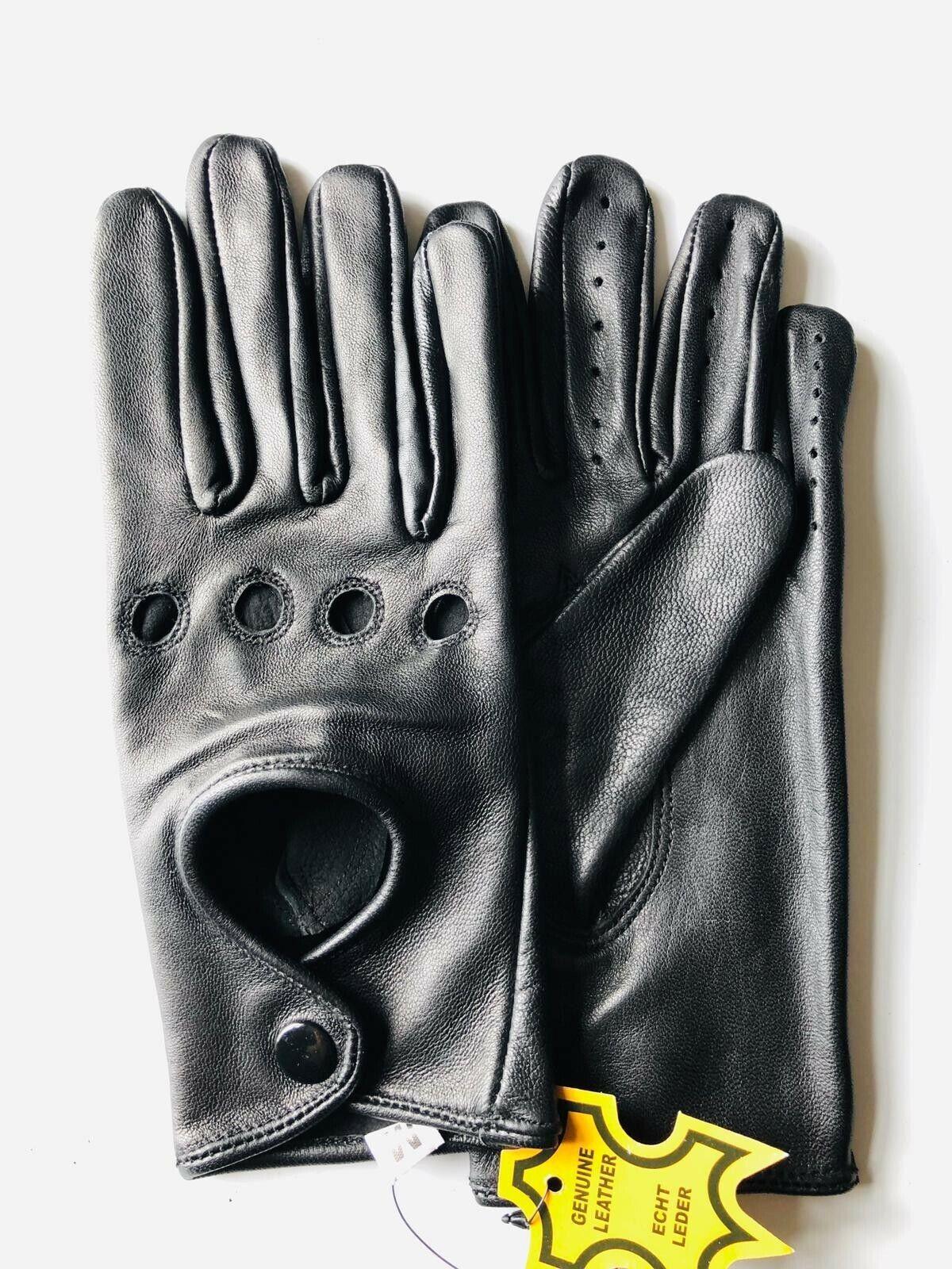 Ladies Genuine Soft LambSkin Leather Fashion Driving Gloves