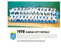 1978 KANSAS CITY ROYALS 8X10 TEAM PHOTO BRETT  LAU  BASEBALL AL WEST DIV CHAMPS