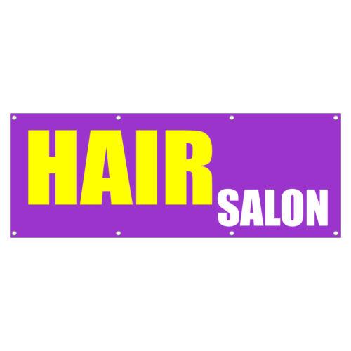 HAIR SALON Promotion Business Sign Banner 3 feet x 6 feet //w 6 Grommets