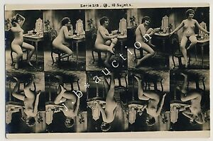 NUDE-WOMAN-POSING-NACKTE-FRAU-IN-POSE-Vintage-10s-Photo-Sample-Card-Muster