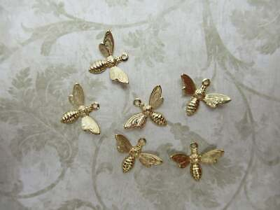 Pendant Charms 8 Antiqued Brass Steampunk Variety Qty Angel Bird Wings