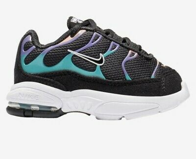 Nike Little Air Max Plus TODDLER GIRL Size 8C BQ7228-001 Black//Purple//Teal