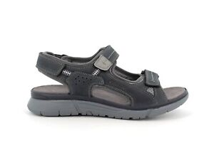 ENVAL SOFT 7221011 Sandals trekking Shoes Leather Soft Man Memory Comfort Str