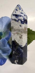 65-1g-NATURAL-BLUE-SODALITE-CRYSTAL-MINERAL-POLISHED-HEALING-WAND-Reiki-ROMANIA