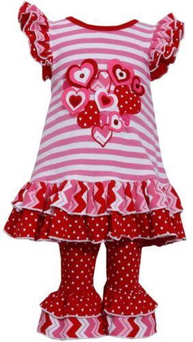 Bonnie Jean St Valentine Red Heart Birthday Dress Set Girls 12 18 24 Months