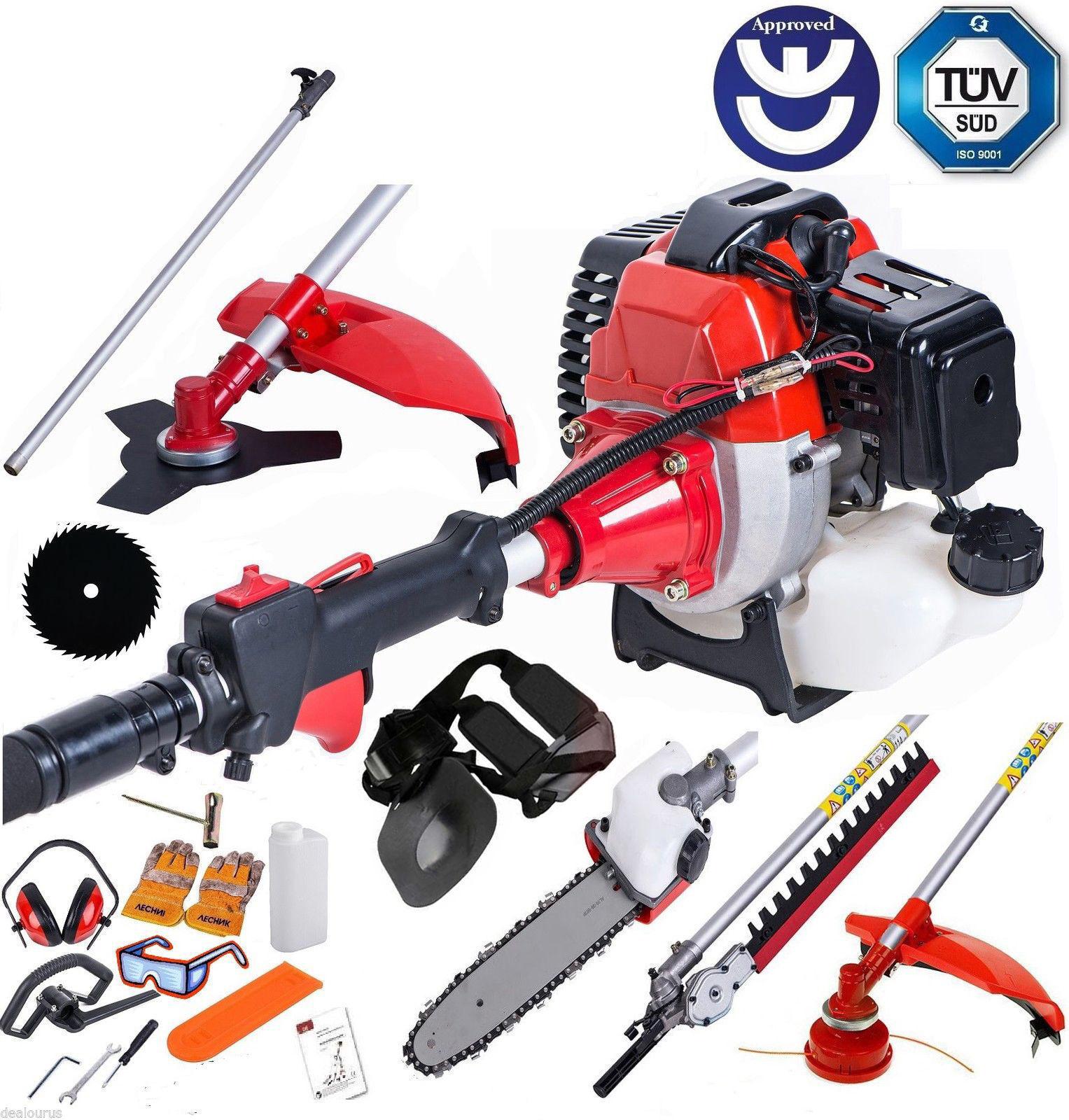 Función Multi herramienta de jardín 5 in1 Gasolina Cortadora, Desbrozadora Motosierra