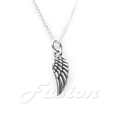 Solid 925 Sterling Silver Angel Charm Pendant Necklace