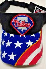 Philadelphia Phillies Heat Applied applique on USA Flag Visor cap hat!Adjustable