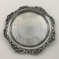 """Wallace Baroque 10"""" Round Tray Silver Plate silverplate 264"""