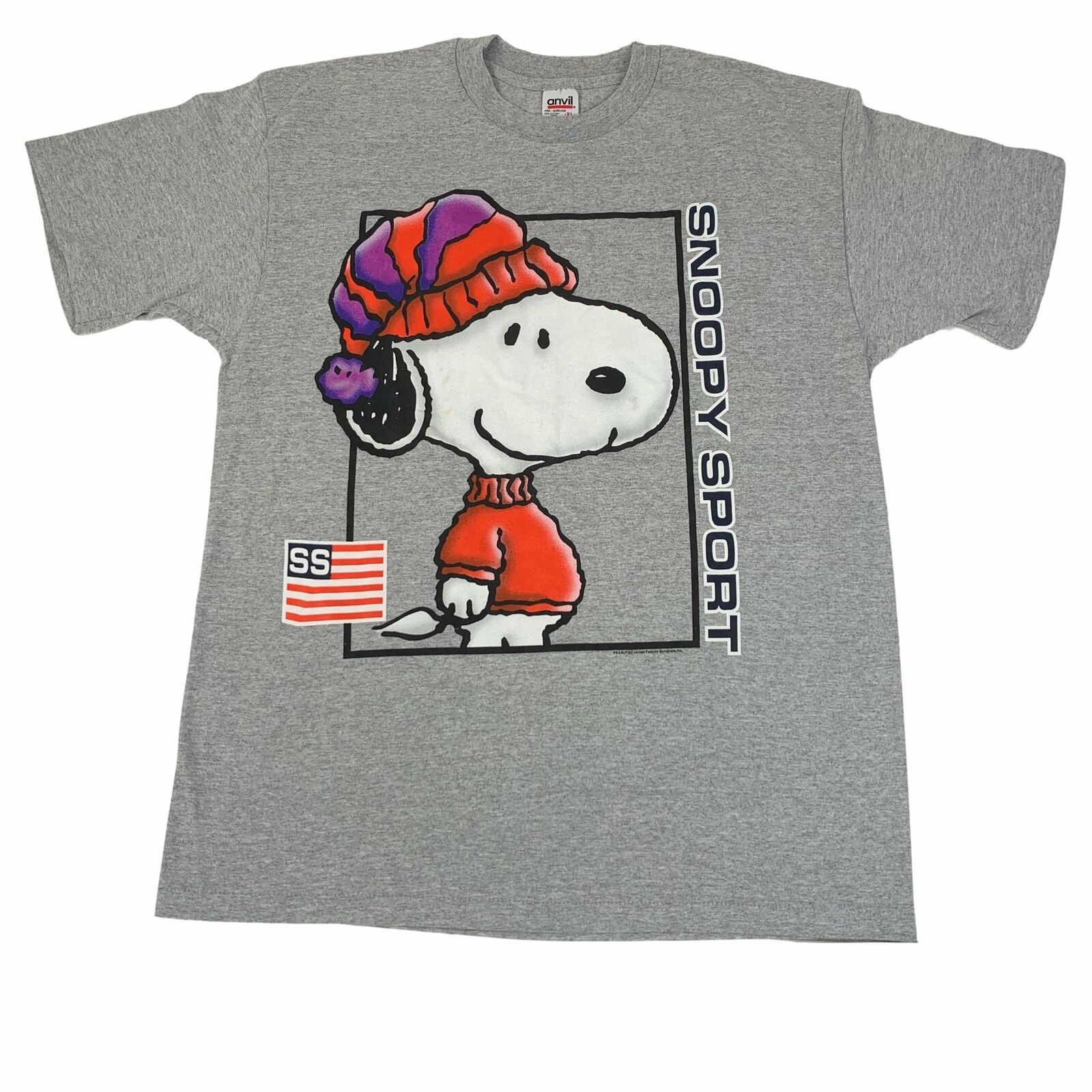 Vintage Peanuts Snoopy Charles Schulz Polo Sport Charlie braun T-hemd