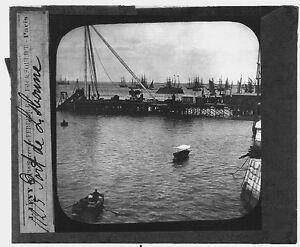 Port-da-Lisbona-Lisbon-Portogallo-Porto-da-Lisboa-Fotografia-Placca-Foto-c1900