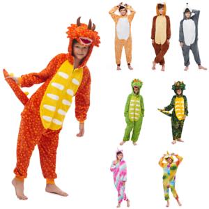 estremamente unico liquidazione a caldo alta moda Dettagli su Kigurumi pigiami animali da bimbi bambini tuta costume  carnevale Halloween festa