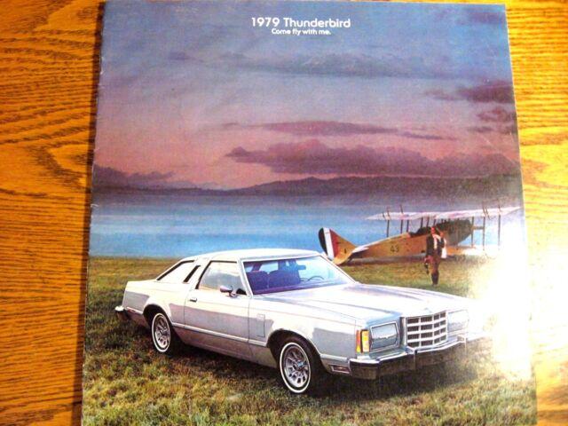 1979 Ford T-bird Thunderbird Brochure Aviation Theme Original 79