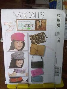 Oop-Mccalls-DIYSTYLE-5995-hats-caps-bags-belts-NEW