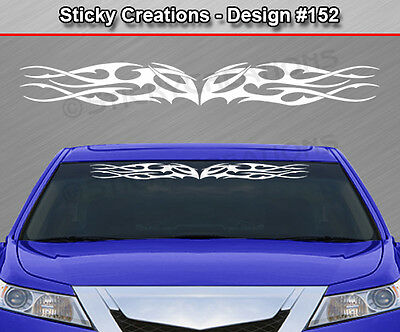 #152 HOOD TRIBAL FLAME Sticker Decal Graphic Car Truck