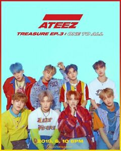 ATEEZ-TREASURE-EP-3-ONE-TO-ALL-3rd-Mini-Album-CD-Book-Sticker-Poster-11Card-GIFT