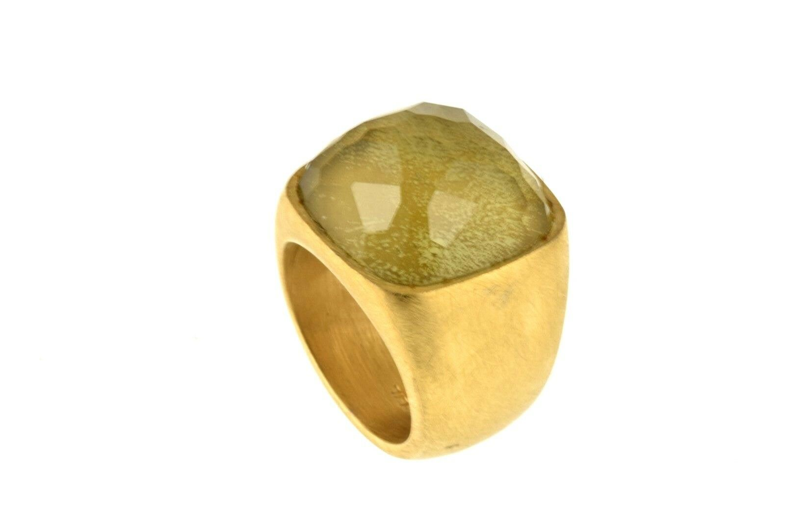 Anello Breil in acciaio satinato placcato in gold -BJ0477 - Misura 13