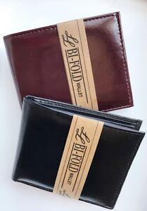 New-Men-039-s-Genuine-Leather-Bifold-ID-Credit-Card-Money-Holder-Wallet-Black-Brown