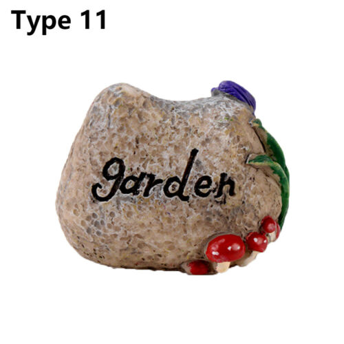 Welcome Stake Figurine Fairy Garden Simulation stone signpost Mini Road Sign