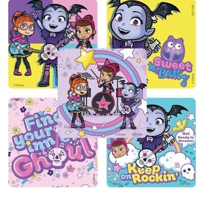 25 Disney Vampirina Ghouls Girls Stickers Party Favors Teacher Supply Halloween