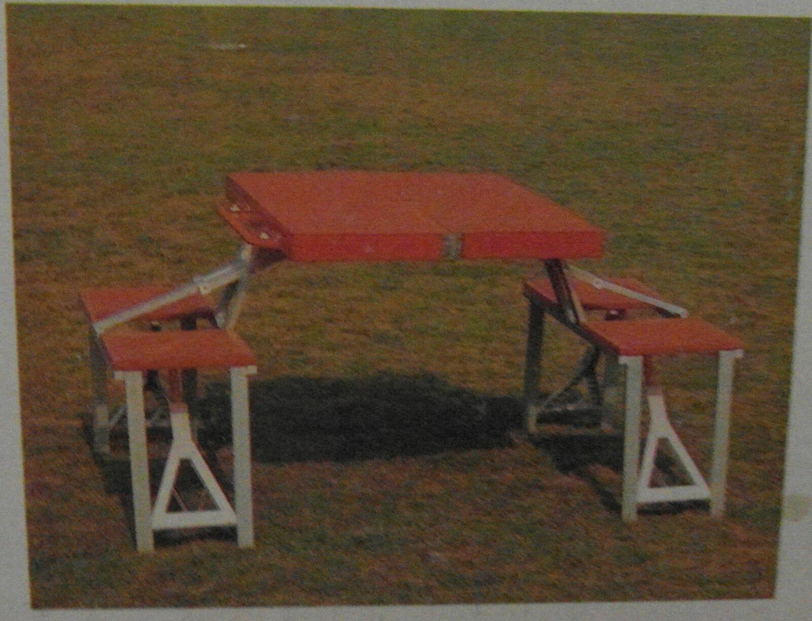 Camping-Set Tisch Bänke Bänke Bänke Kombination im Koffer für 4 Personen , NEU,OVP 47aa85