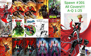 Spawn-301-A-Q-McFarlane-Ross-Mattina-J-Scott-Campbell-Sienkiewicz-1-25-Sets
