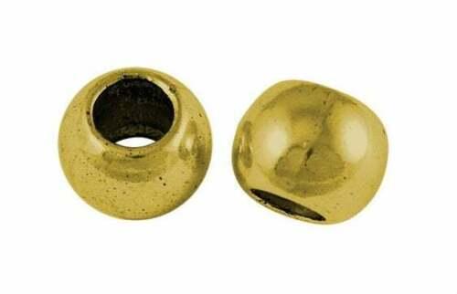 8 x metal perlas oro 11mm