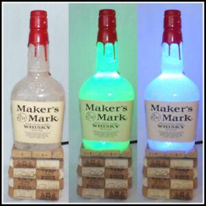 Image Is Loading Makers Mark Bourbon Whiskey Empty Liquor Bottle Lamp