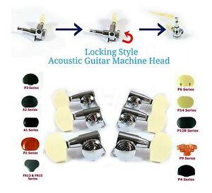 locking acoustic guitar tuner chrome plated 3r3l 334cx plastic buttons ebay. Black Bedroom Furniture Sets. Home Design Ideas
