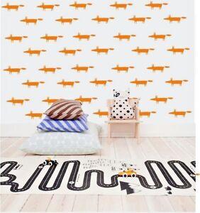 Fox-Motif-art-mur-autocollants-amovible-Home-Decor-vinyle-Decoration-Stiker-Lot-de-32