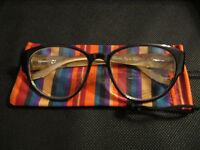Jm York Clear Glasses +0.00 Black Spring Hinged Joy Mangano
