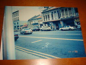Singapore-1996-View-of-Refurbished-Prewar-Houses-at-Geylang-Road-Color-Photo