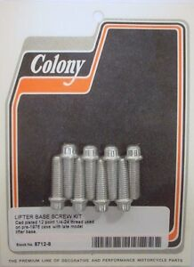 Harley Special Lifter Base Screw Kit Cad Colony 8712-8